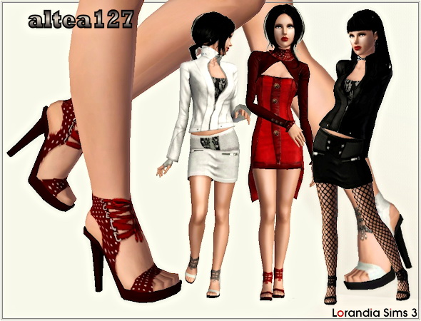 High heel sandals with strings by Altea127 at  Lorandia Sims 3 - photo big