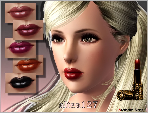 Cream lipstick by Altea127 at  Lorandia Sims 3 - photo big