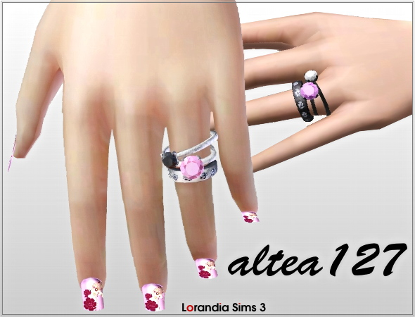 Pandora rings by Altea127 at  Lorandia Sims 3 - photo big