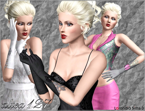 Gloves with lace and bows by Altea127 at  Lorandia Sims 3 - photo big