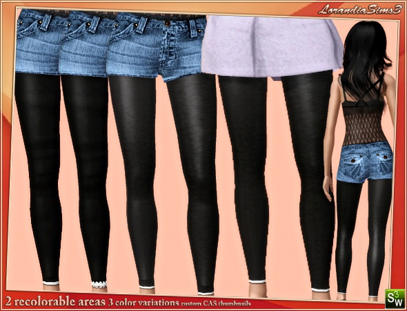 Long leggings in 3 variations by Mirel at  Lorandia Sims 3 - photo big