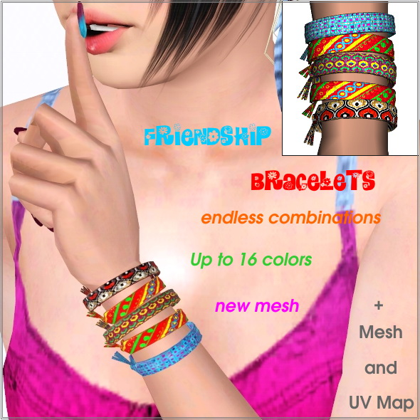 Friendship bracelets 5 in one by Lore at  Lorandia Sims 3 - photo big