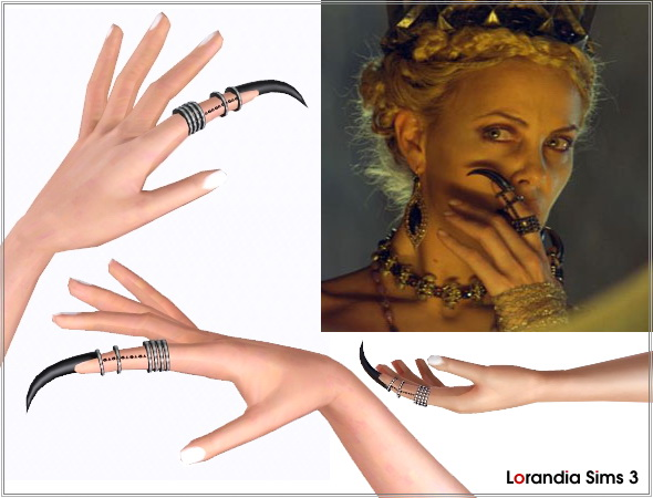 Claw ring by Lore at  Lorandia Sims 3 - photo big