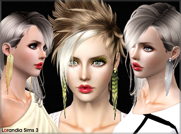 Long tassel earrings by Lore at  Lorandia Sims 3 - photo big