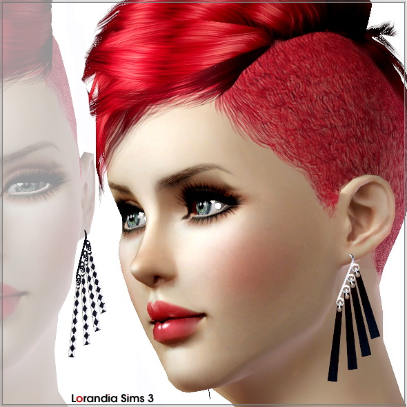 Hook earrings by Lore at  Lorandia Sims 3 - photo big