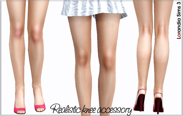 Realistic red knee by Lore at  Lorandia Sims 3 - photo big