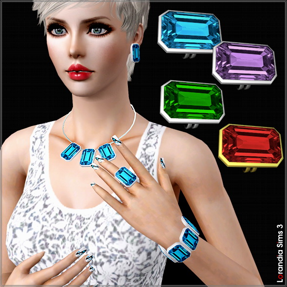 Statement gem ring by Lore at  Lorandia Sims 3 - photo big