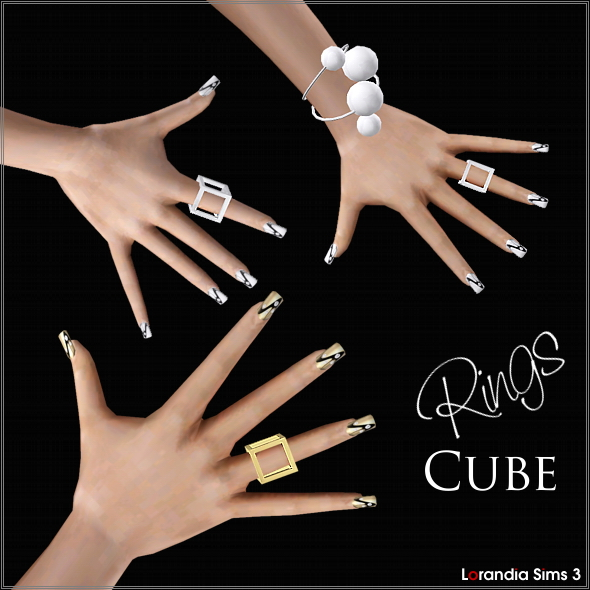 Cube rings by Lore at  Lorandia Sims 3 - photo big