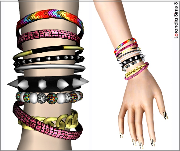 Multilayer bracelet by Lore at  Lorandia Sims 3 - photo big