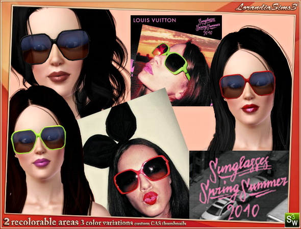 Luis Vuitton inspired sunglasses by Mirel at  Lorandia Sims 3 - photo big