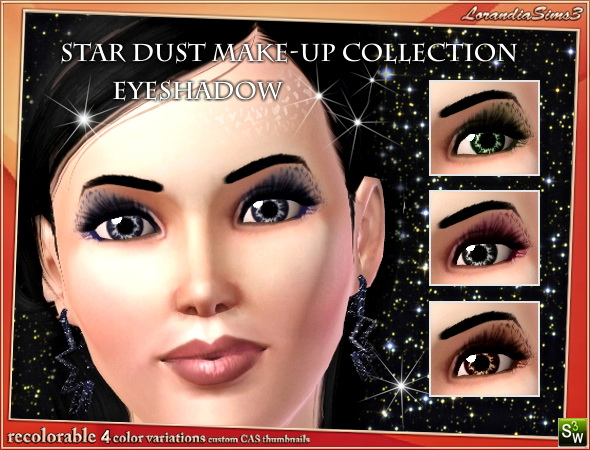 Eyeshadow from Star Dust makeup collection by Mirel at  Lorandia Sims 3 - photo big