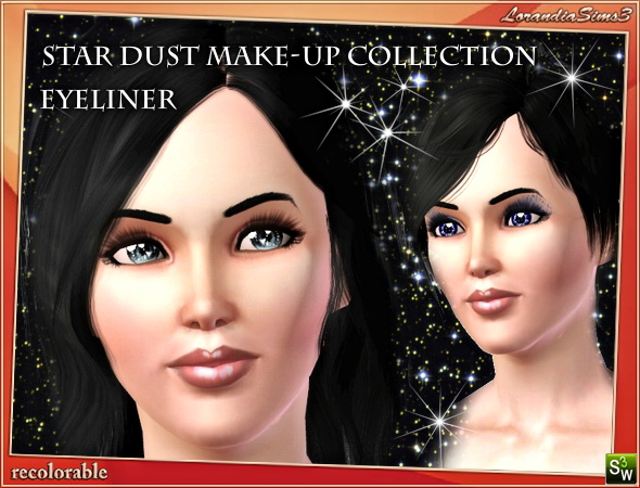 Eyeliner from Star Dust makeup collection by Mirel at  Lorandia Sims 3 - photo big