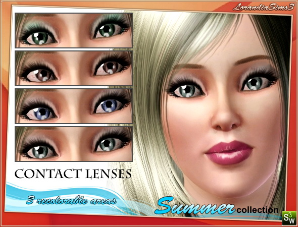 Summer collection contact lenses by Mirel at  Lorandia Sims 3 - photo big