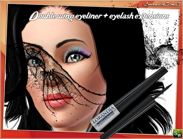 Double Wing Eyeliner 2 by Mirel at  Lorandia Sims 3 - photo big