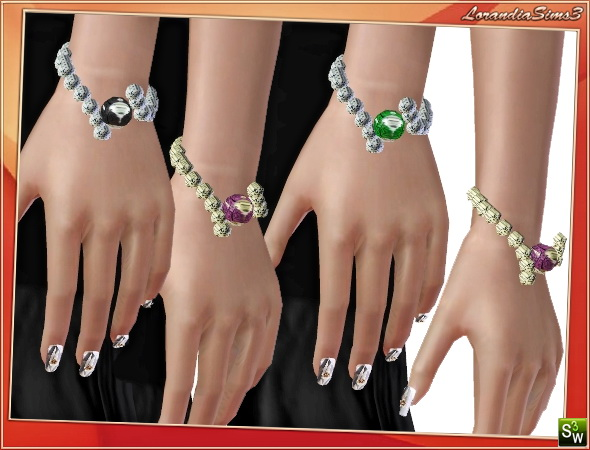 Spheres Bracelet by Mirel at  Lorandia Sims 3 - photo big