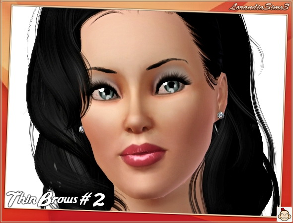Thin Brows nr.2 by Mirel at  Lorandia Sims 3 - photo big