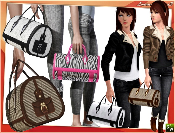 Big bag in 3 different styles by Lore at  Lorandia Sims 3 - photo big