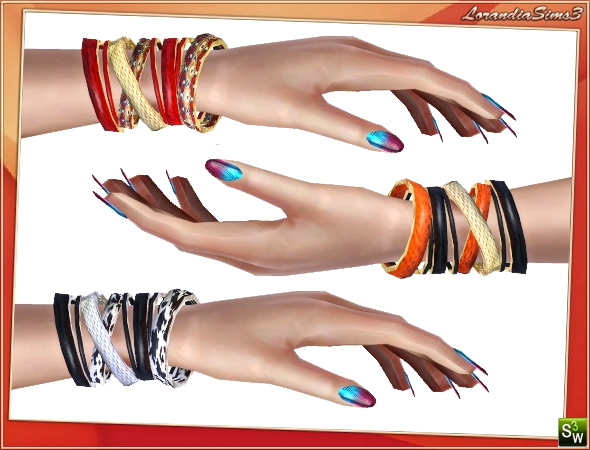Multiple Bracelets by Lore at  Lorandia Sims 3 - photo big