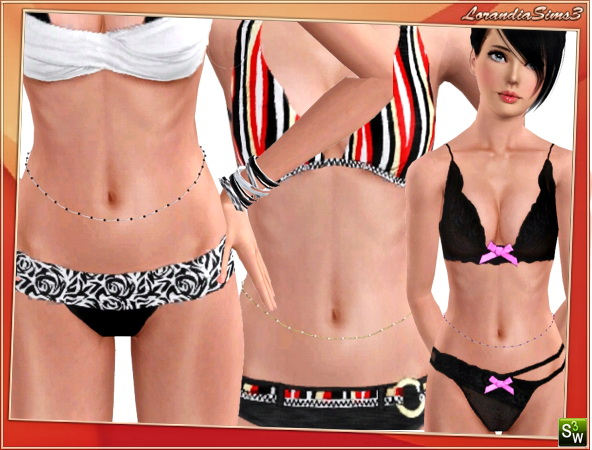Waist Chain by Lore at  Lorandia Sims 3 - photo big