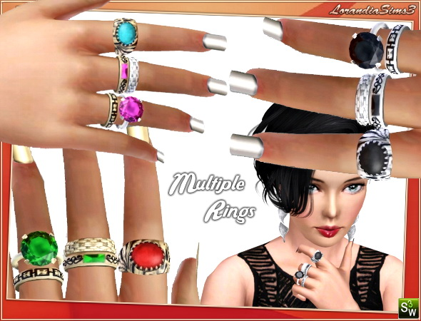 Multiple rings for females by Lore at  Lorandia Sims 3 - photo big