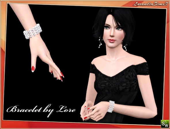 Pearl bracelet by Lore at  Lorandia Sims 3 - photo big