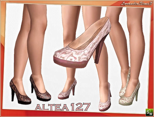 Elegant high heel lace shoes  by Altea127 at  Lorandia Sims 3 - photo big
