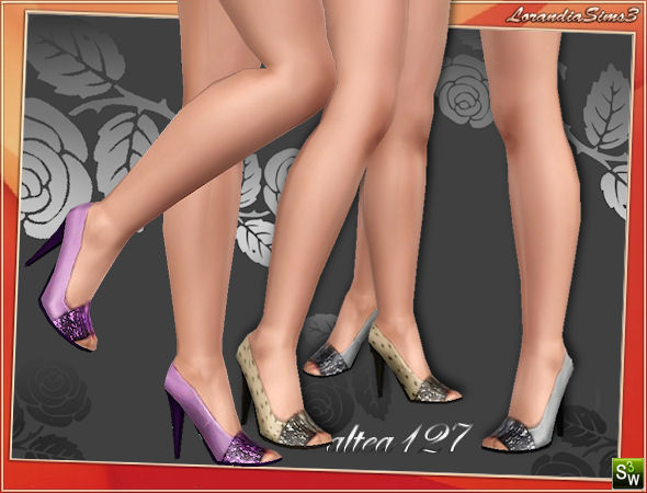 Open toe high heel shoes by Altea127 at  Lorandia Sims 3 - photo big