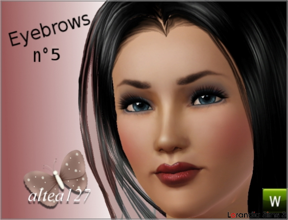 Realistic Eyebrows n5  by Altea127 at  Lorandia Sims 3 - photo big