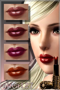Cream lipstick for your sims 3 females. Recolorable, custom launcher thumbnails