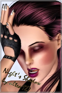 Night shadow - eyeshadow for your Sims 3 females. Recolorable, custom thumbnails.