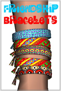 Frienship bracelets 5 in one, up to 16 colors if you assign 4 channel patterns, endless style combinations, plus the mesh available for download