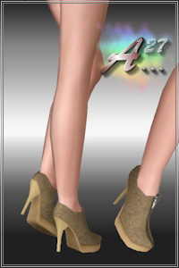 Vanity shoes, 3 recolorable areas, custom CAS and launcher thumbnail, 1 color variation included.