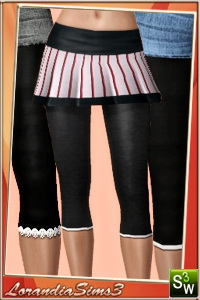 Capris leggings in 3 variations, regular, with mesh and shinny for your sims 3 female from teen to elder. 2 recolorable areas, custom CAS thumbnails.