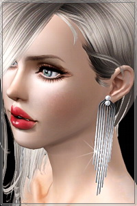 Long tassel earrings in 3 styles. feather version included. 3 recolorable areas, custom cas and launcher thumbnails, new custom mesh, base game compatible.