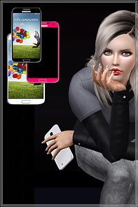 Galaxy S4 accessory for females and males, 4 styles included, recolorable, custom mesh by Mirel. For a phone working variation visit http://4sims.net
