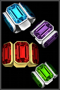 Big gem bracelet for your Sims 3 females. 2 recolorable areas, 4 color variations, custom thumbnails, new custom mesh base game compatible.