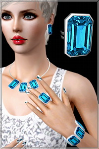 Statement gem ring, 2 recolorable areas, 4 color variations included, custom thumbnails, new custom mesh, base game, 2 packs for both hands