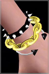 Large chain and spike bracelet, 4 recolorable areas, 3 color variations, custom thumbnails, new mesh, base game compatible