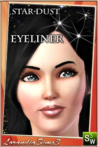 Eyeliner from Star Dust makeup collection for your sims 3 female. Recolorable, custom launcher thumbnails
