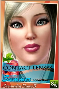 Summer collection contact lenses for your sims 3 males and females from teen to elder. 3 recolorable areas, 4 color variatons, custom thumbnails.