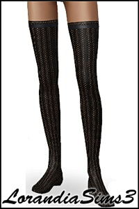 Hosiery for your sims 3 female. 3 color versions in the same pack, custom CAS thumbnails.