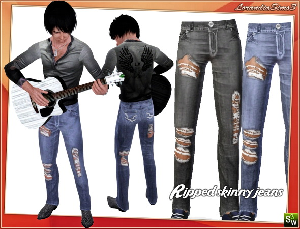 Sims 3 ripped skinny jeans