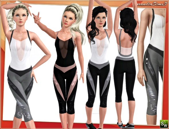 Sport outfit for your sims 3 females. 3 recolorable areas, 3 color variations in the same pack, custom cas and launcher thumbnails