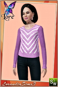 Sweater for your sims 3 teen female wardrobe. Recolorable, 3 color variations, custom CAS thumbnails.