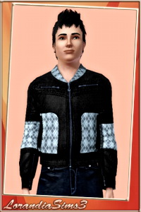 Casual jacket for your sims 3 male wardrobe. 3 recolorable areas, 3 color variations in the same pack, custom CAS thumbnails.