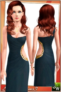 Formal dress, recolorable, 2 color variations in the same pack, custom cas and launcher thumbnails