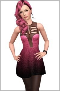 Metallic mesh dress. 3 recolorable zones, 2 color variations in the same pack, custom CAS and launcher thumbnails, custom mesh