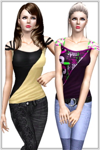 Fitted sport casual top. 4 variations, 4 recolorable areas, base game compatible, custom CAS and launcher thumbnails.