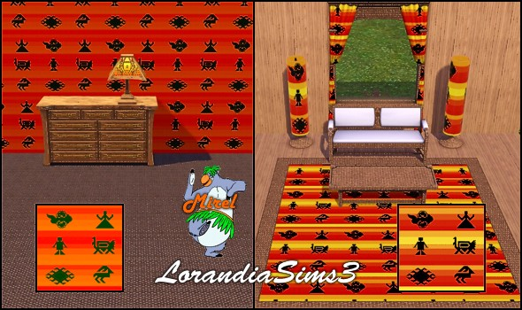 African themed patterns in 3 custom colors. Suitable for special decoration.