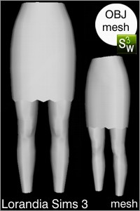 Zig Zag bottom skirt Sims 3 mesh for Workshop 0.64. Base game compatible, replacement for afBottomSkirtShort_buttons